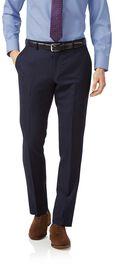 Navy slim fit jaspe business suit