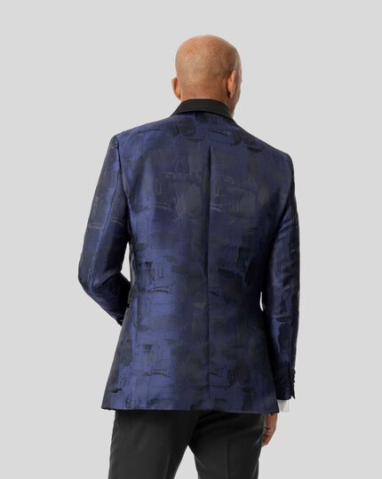 Jacquard Jacket - Midnight Blue
