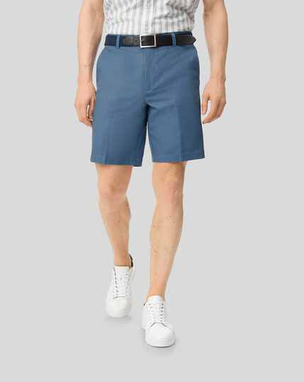 Linen Cotton Shorts - Blue