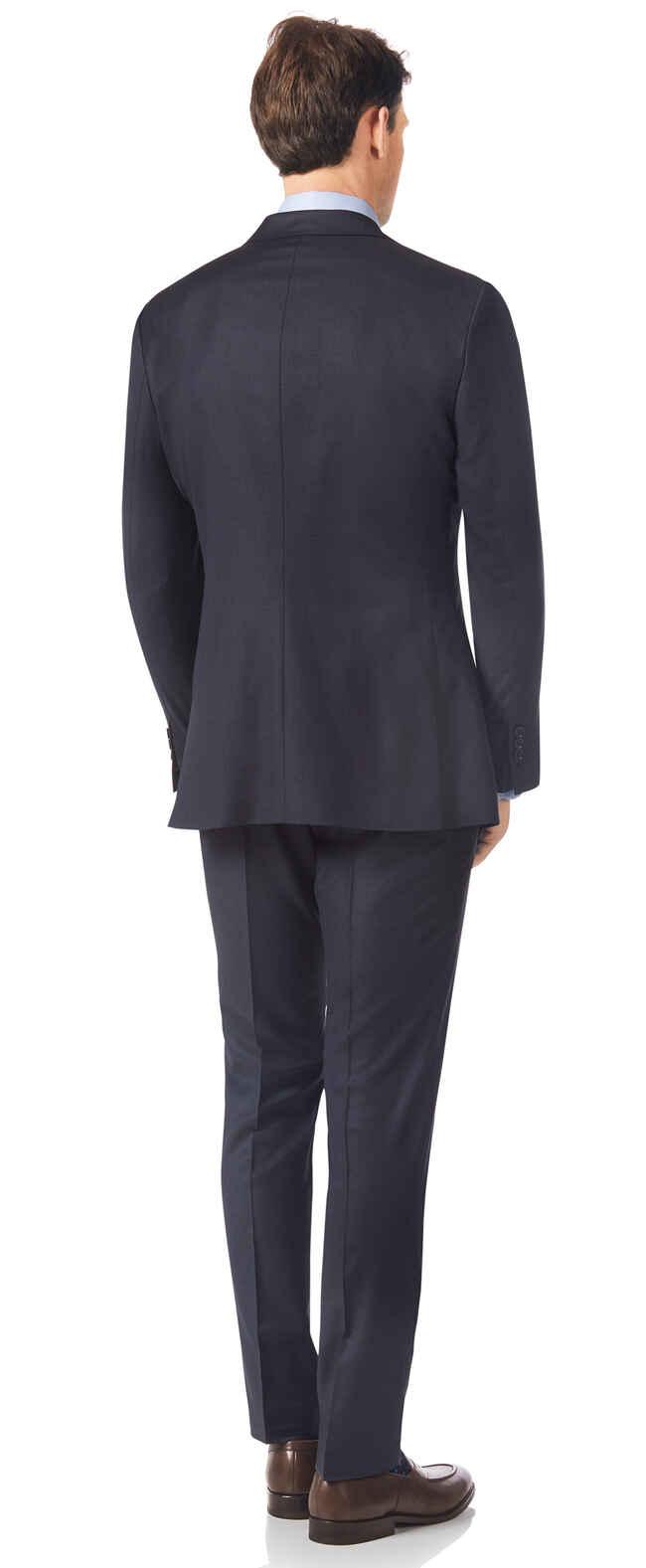 Italienischer Anzug Slim Fit Airforceblau