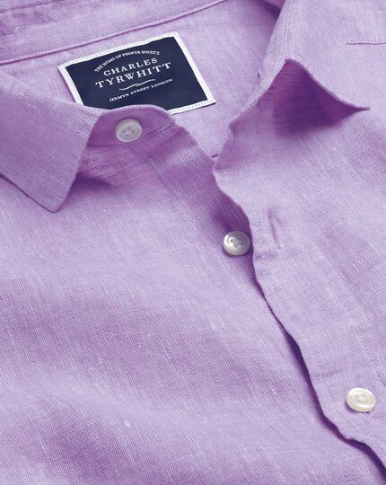 Linen Shirt - Lilac