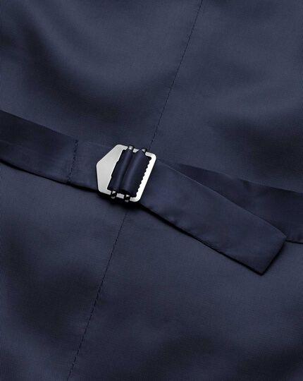 Navy adjustable fit herringbone business suit waistcoat