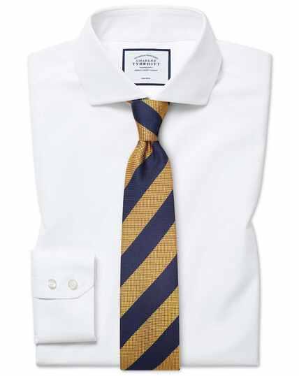 Bügelfreies Tyrwhitt Cool Classic Fit Hemd mit Haifischkragen in Weiß