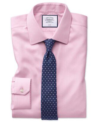 Super slim fit non-iron pink arrow weave shirt