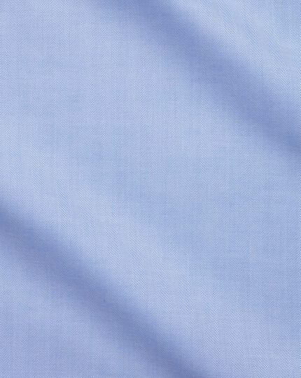 Classic fit sky blue fine herringbone shirt