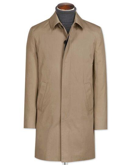 Stone cotton raincoat
