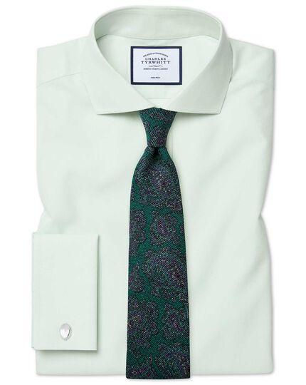 Green multi paisley wool print luxury Italian tie