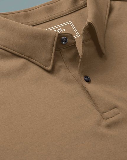 Stone long sleeve jersey polo