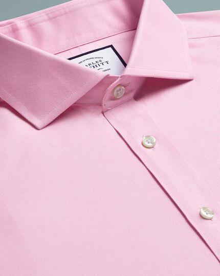 Slim fit pink non-iron twill cutaway shirt