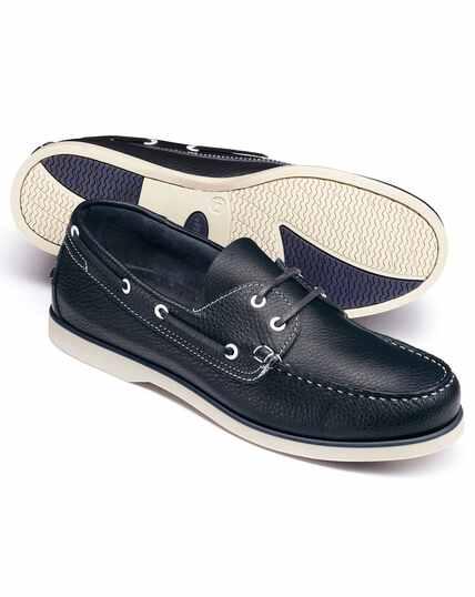 Navy boat shoe