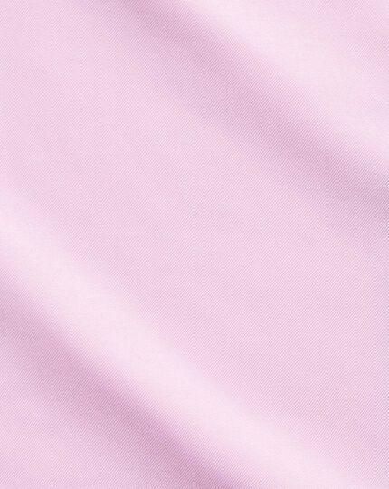 Bügelfreies Slim Fit Twill-Hemd in Rosa