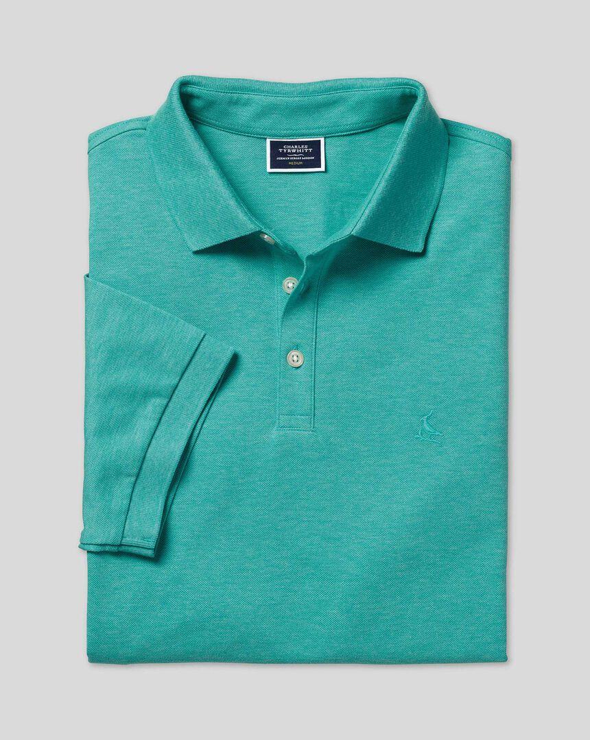 Tyrwhitt Piqué-Polo – Grün meliert