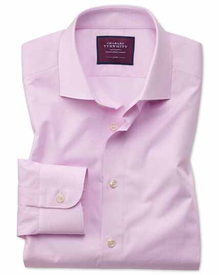 Fine Stripe Luxury Shirt - Pink