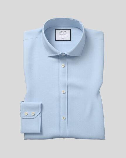 Bügelfreies Extra Slim Fit Popeline-Hemd mit Haifischkragen in Himmelblau