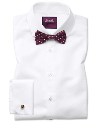 Slim fit cutaway non-iron luxury marcella bib front white shirt