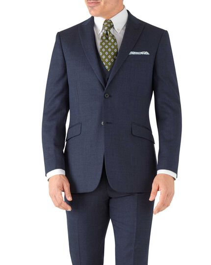 Slim Fit Business Anzug Sakko aus Hairline in AirforceBlau