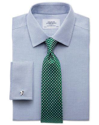Chemise bleue en tissu impériale extra slim fit sans repassage