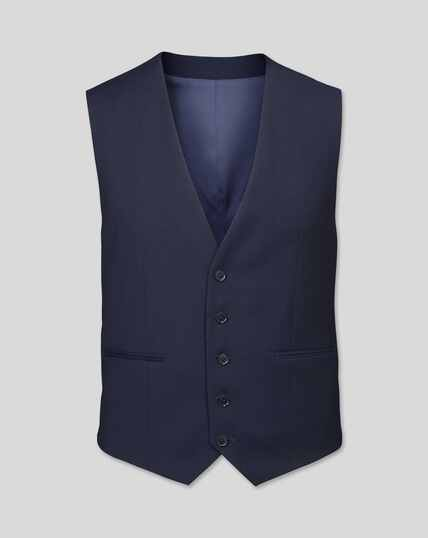 Business Suit Textured Vest - Navy