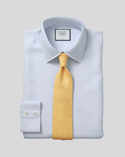 Classic Collar Non-Iron Twill Shirt - Silver
