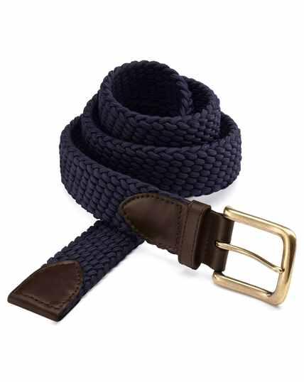 Navy stretch belt