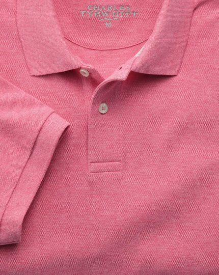 Dark pink pique polo