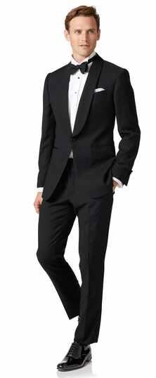 Black extra slim fit dinner suit