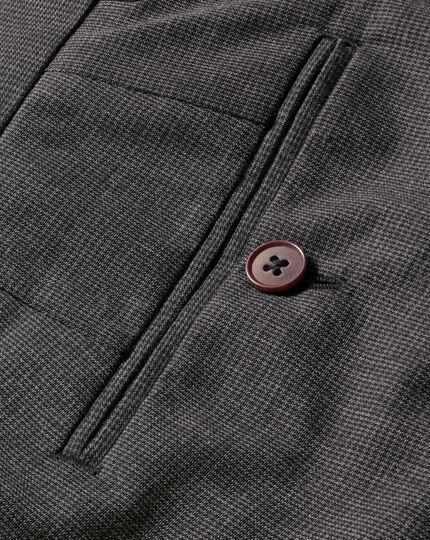 Charcoal slim fit puppytooth cotton trousers