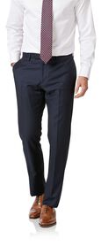 Navy slim fit wool with cashmere Italian suit
