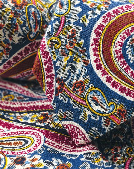Cotton Silk Paisley Italian Luxury Tie - Multi