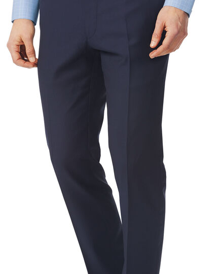 Italian Luxury Twill Suit - Navy