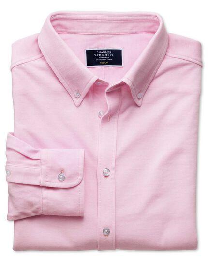 Pink Oxford jersey shirt