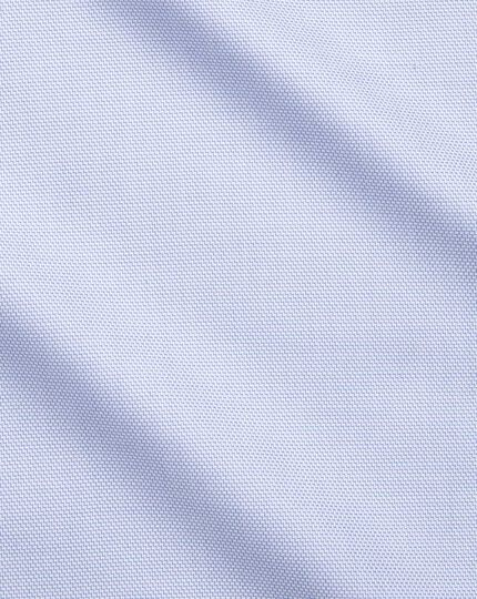 Slim fit non-iron step weave sky blue shirt