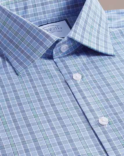 Prince Of Wales Check Shirt - Blue And Green