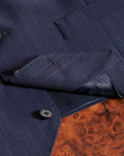 Navy adjustable fit Panama stripe business suit vest