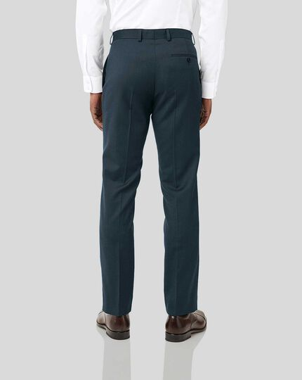 Twill Business Suit Pants - Teal