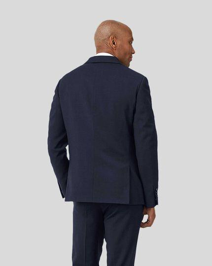 Business Suit Textured Jacket - Navy