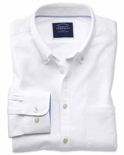 e055464c192e ... Classic fit white washed Oxford shirt