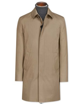 Stone cotton raincoat