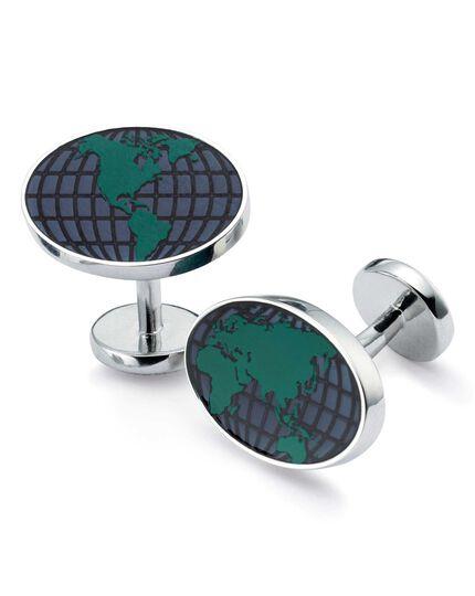Globe enamel cufflinks