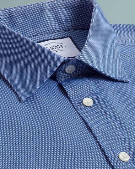 Chemise bleu roi en oxford royal de coton égyptien slim fit