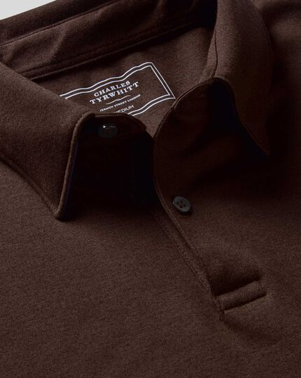 Smart Jersey Polo - Chocolate