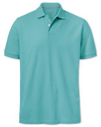 Turquoise pique polo