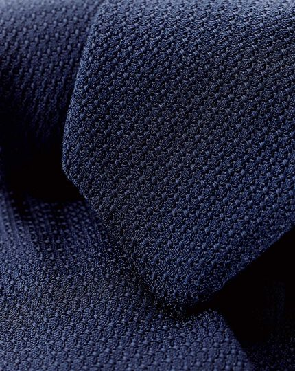 Silk Grenadine Italian Luxury Tie - Navy