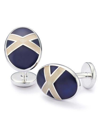St Andrews Cross enamel cuff links