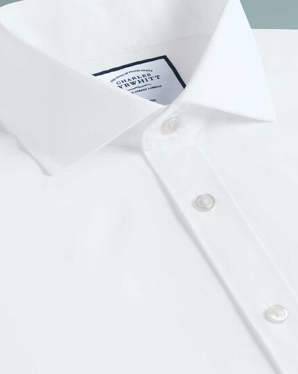 Extra slim fit non-iron 4-way stretch white shirt