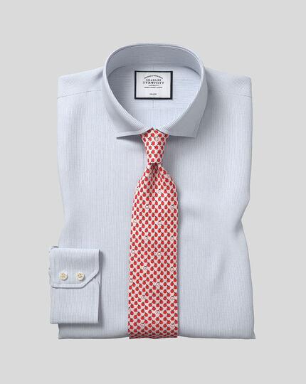 Chemise en coton stretch à col cutaway sans repassage - Bleu ciel