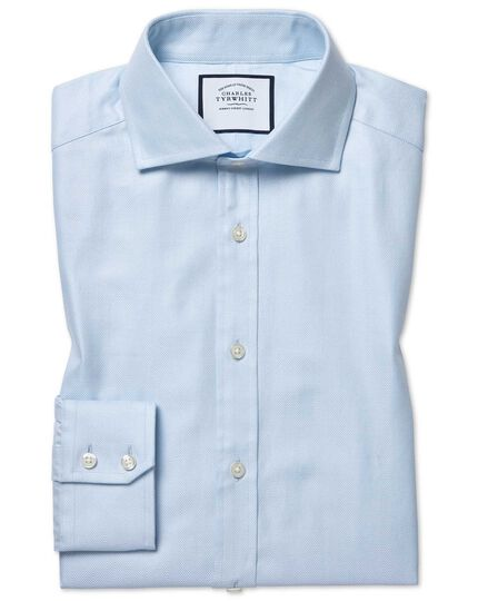 Spread Cotton Stretch With Tencel™ Shirt - Blue
