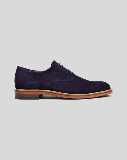 Suede Derby Shoe - Blue