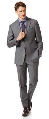 Slim Fit Businessanzug aus in Grau