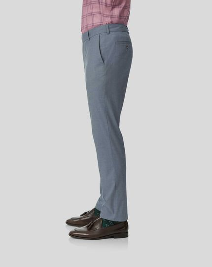 Non-Iron Stretch Pants - Light Blue